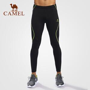 camel骆驼户外运动裤 男款针织紧身长裤健身裤瑜伽裤