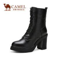 Camel骆驼女靴  新款时尚 高跟粗跟马丁女靴骑士靴