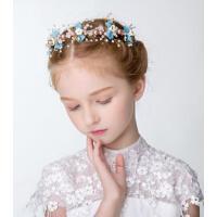 时尚新款头饰儿童六一表演花环女童公主发饰婚纱礼服简约钢琴配饰头饰