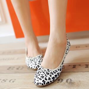 O'SHELL欧希尔新品057-1527韩版平底鞋女士豆豆鞋