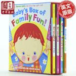【中商原版】凯伦・卡茨 Karen Katz 纸板书盒装 英文原版 Baby's Box of Family Fun!