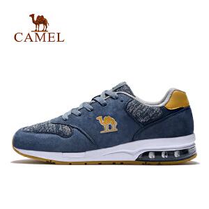 【每满200减100】camel骆驼情侣款跑步鞋 男女款减震低帮系带休闲气垫跑鞋