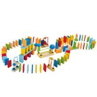 儿童大块木制积木宝宝智力玩具骨牌创意机关