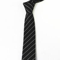 新男士正装领带男士领带潮韩版时尚职业5CM6CM窄正装黑色蓝色红色条纹新款结婚u0