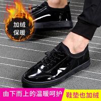 2018韩版百搭休闲黑色男士潮鞋子棉鞋男冬季保暖加绒加厚板鞋