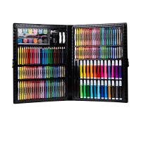 儿童水彩笔套装初学者可擦可水洗幼儿园宝宝小学生画画手绘彩色笔绘画72/100/150色/件套盒礼物