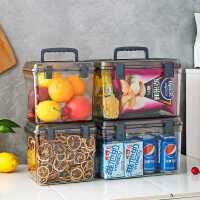 箱子储物箱塑料 透明整理收纳盒家用特大加厚 有盖防潮密封箱零食