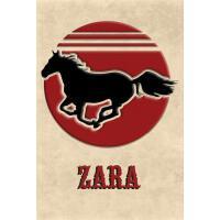 预订 Wild Horse Lined Notebook: Zara: College Ruled Compositi