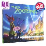 迪士尼疯狂动物城 英文原版小说 英文版 英文原版书 The Art of Zootopia 电影画册 电影设定集 动物