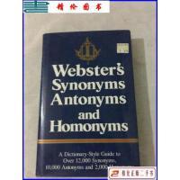 【二手9成新】韦氏词典 Websters Synonyms,Antonyms,And Homonym