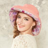 女士帽子 春夏天韩版潮遮阳帽 防紫外线时尚海边帽子可折叠大檐帽沙滩帽防晒帽太阳帽子女3076