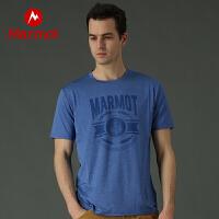 【土拨鼠超级品牌日】Marmot/土拨鼠户外运动吸湿排汗防晒短袖速干T恤