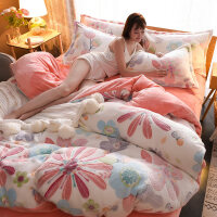 加厚冬季雪花绒四件套双面绒床单被套珊瑚绒法莱绒床笠床上法兰绒 2.0m床 床单款 (被套220*240)四件套
