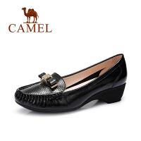 Camel/骆驼女鞋 蝴蝶结单鞋 休闲舒适通勤秋鞋