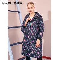 ERAL/艾莱依2018冬装新款羽绒服女中长款简约大衣617105193