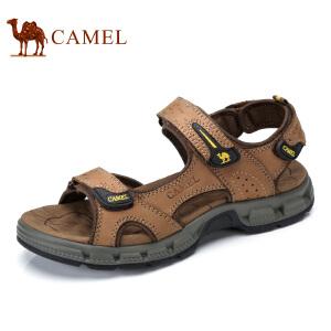 camel骆驼凉鞋男 夏季新款男士凉鞋真皮牛皮户外休闲沙滩鞋男