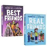 英文原版 Best/Real Friends 真正的朋友谊 全彩漫画2本桥梁章节书 公主奇缘纽伯瑞奖作家Shannon