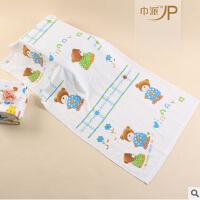 60*120双层蜂巢纱布浴巾 棉质卡通婴儿浴巾