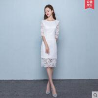 中国风新款 旗袍连衣裙蕾丝改良版韩版日常少女中长款学生