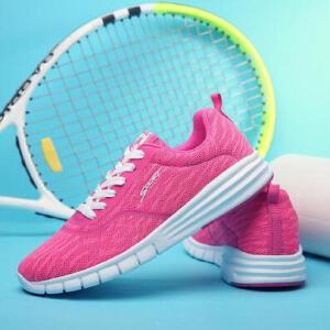 领舞者新款透气网布鞋减震情侣百搭跑步运动鞋