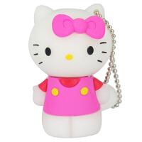 【好品质+送读卡器】瑞鹊【原装芯片】全新创意精致卡通4G 8G 16G 32G U盘Hello Kitty 粉色