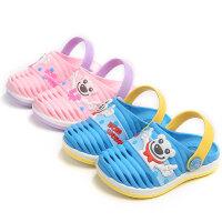儿童拖鞋夏宝宝洞洞鞋小孩男童软底卡通可爱女童小公主沙滩鞋
