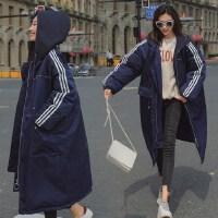 2019新款孕妇韩版中长款加厚袄孕妇冬装棉衣外套