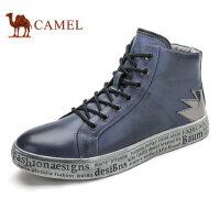 camel骆驼男鞋 秋季新款 男鞋日常休闲高帮板鞋英伦复古潮流鞋