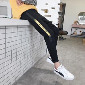 秋冬新品潮流时尚fashion织带GD同款小脚牛仔裤男三色可选