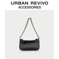 【当当超品价:159元】URBAN REVIVO2021春季新品女士配件时尚PU皮单肩包AY02TB2N2000