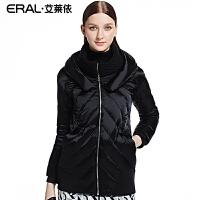 ERAL/艾莱依冬装羽绒韩版中长款毛线领拼接羽绒服女韩版修身6037D