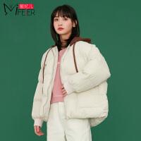 蜜妃儿ulzzang短款面包服韩版宽松外套2019新款加厚蓬蓬棉服女冬
