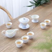茶具套装 彩绘茶壶茶杯2019欧式家用陶瓷青瓷茶具功夫荷叶边茶杯