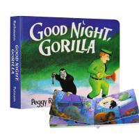 【中商原版】 晚安大猩猩 纸板书 英文原版绘本 Good Night Gorilla 吴敏兰推荐书单 美国百本必读 晚