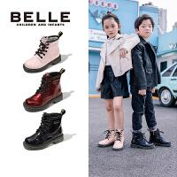 【超品价:145.3元】百丽童鞋女童马丁靴2020秋冬新品中大童加绒保暖短靴儿童加绒靴子