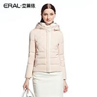 ERAL/艾莱依冬装菱形格时尚短装保暖修身短款羽绒服