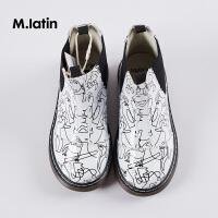 【2件2.5折:79元】马拉丁童装女童鞋子新品儿童靴子艺术家合作系列