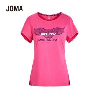 JOMA荷马女士短袖休闲时尚上衣百搭字母印花运动T恤女满200减40