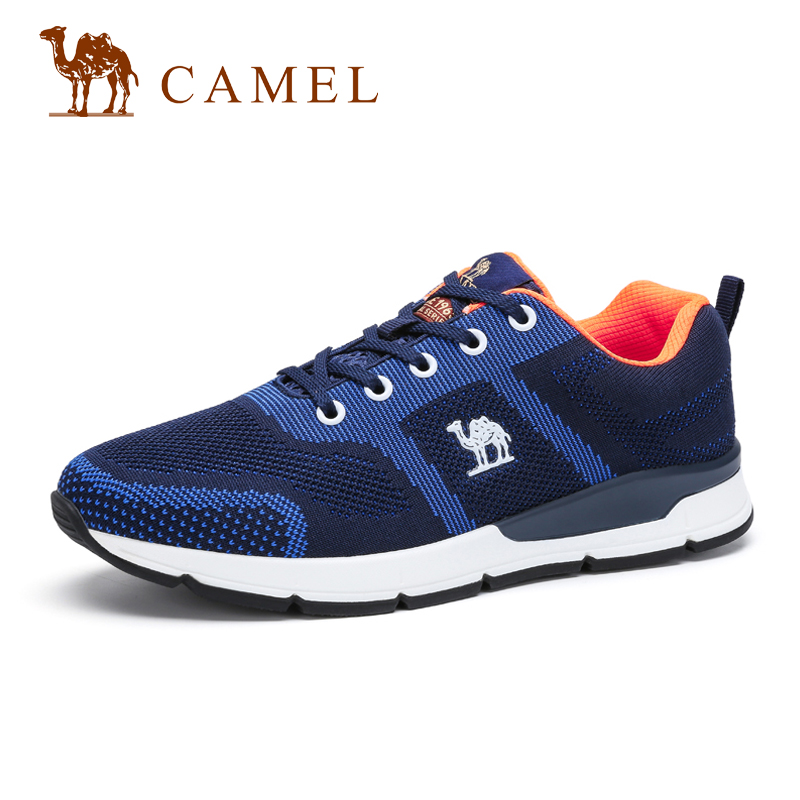 camel骆驼男鞋 春季新品 男士轻盈透气舒适潮流运动系带休闲鞋