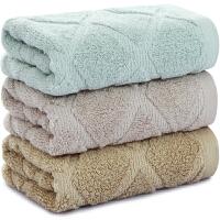 [当当自营]三利 纯棉素色典雅毛巾3条装 32×72cm 柔软吸水洗脸面巾 每条均独立包装