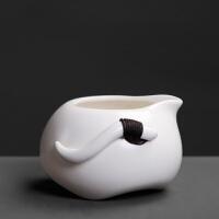 定窑双耳手抓壶月白色茶海公道杯分茶器陶瓷功夫茶具礼品单品零配件