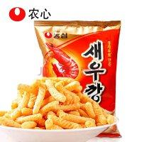 农心韩国进口食品虾条原味生鲜虾制成 经典零食 400g一袋 休闲零食