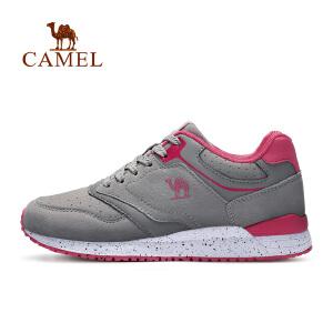 camel骆驼女款跑步鞋 休闲低帮系带回弹女运动鞋