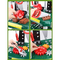 儿童工具箱套装男孩仿真修理维修工具小孩过家家螺丝刀电钻玩具