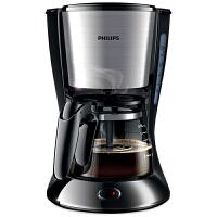 飞利浦(Philips) 咖啡机 家用智能美式保温不锈钢半自动滴漏式咖啡壶 HD7434/20可煮茶迷你型金属色