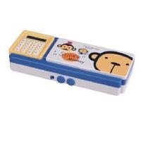 日照鑫 包邮 迪士尼小学生计算器多功能塑料三层铅笔盒男女童卡通密码锁文具盒一个装
