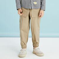 【秒杀价:130元】马拉丁童装男童棉布长裤春装新款儿童个性休闲束脚长裤男