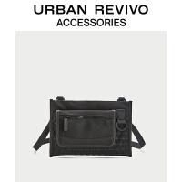 URBAN REVIVO2021春季新品男士配件菱格拼接斜挎包AM02TB4N2003