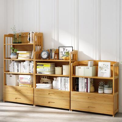 幽咸家居 楠竹书架书柜简约现代书架落地简易书架客厅实木置物架桌上储物柜