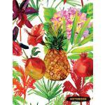 预订 Notebook: Pineapple Lined Journal, Composition Notebook,